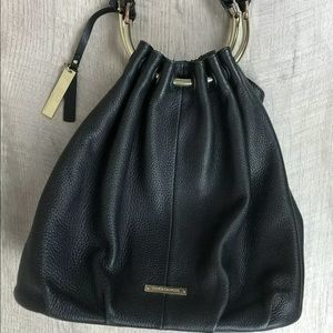 Vince Camuto Nora Black Hobo Bag 100% Leather